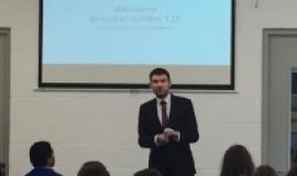 Brendan Griffin TD visits Business classes.